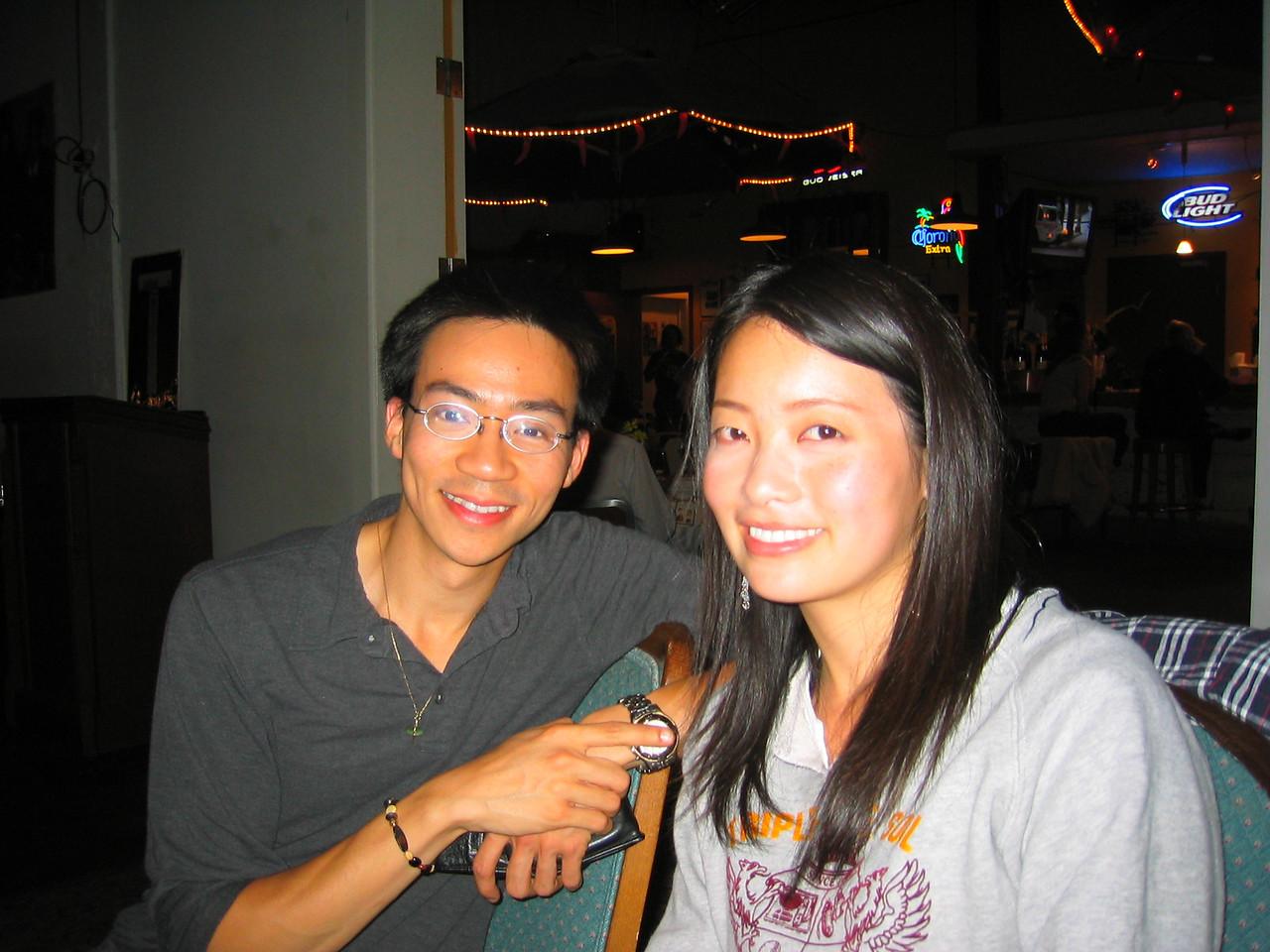 2004 05 15 Saturday - @ Everett & Jones back room jazz - Ben & Estee