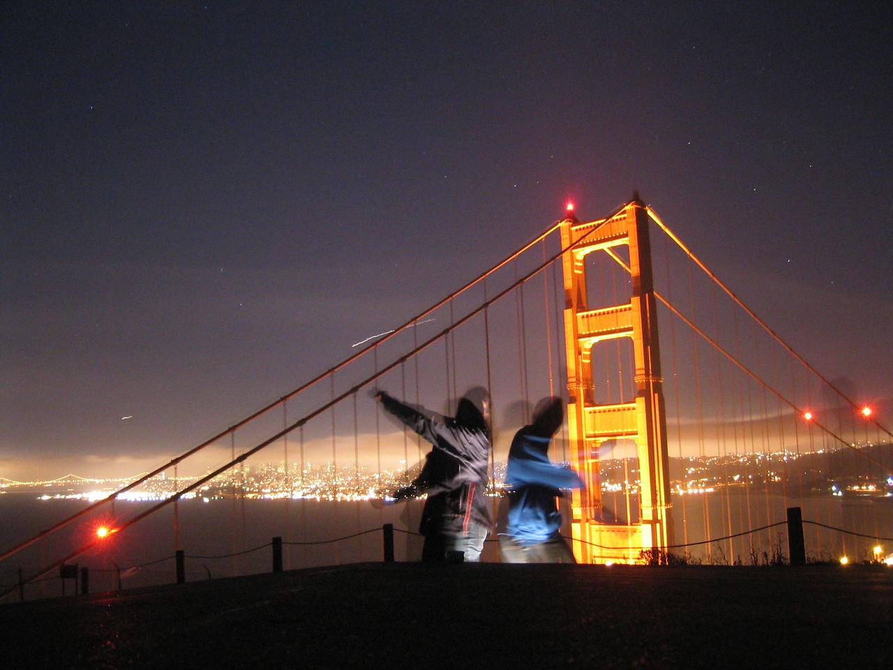 2004 07 12 Monday - Carrie, Melody, & ghost Ben @ Golden Gate Bridge