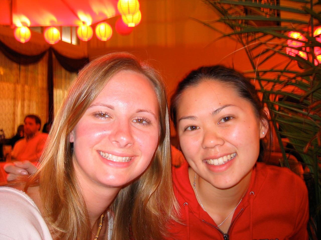 2004 05 15 Saturday - @ Everett & Jones back room jazz - Melody & Tiffany 1