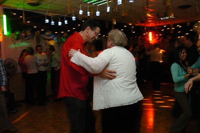 Eric dancing with his mother.