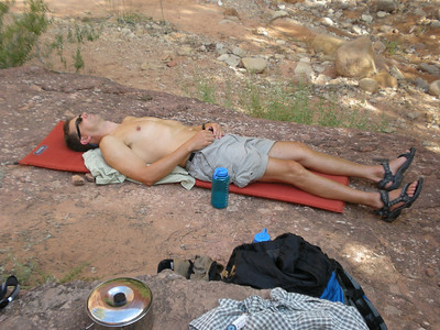 Peter after a long day of hiking, enjoying his Birthday Nap.