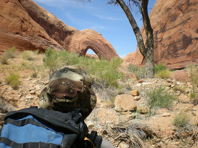 Mark and Broken Bow Arch.