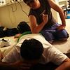 Hardcore massaging.
