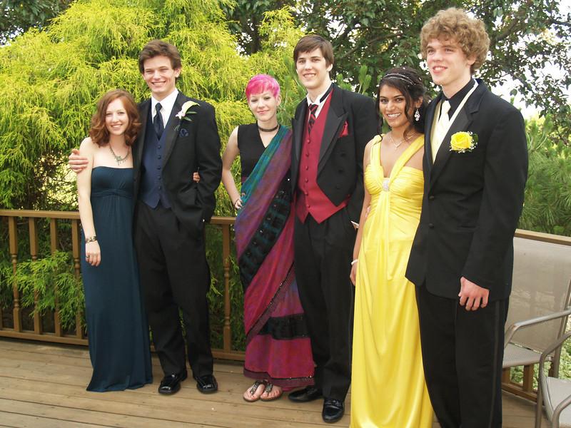 Prom 2011 - Ben, Molly, Kyra, Shane, Holly, Seth