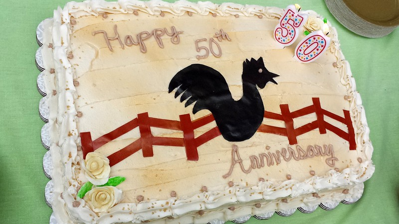 50th Anniversary cake for Quiet Valley Farm