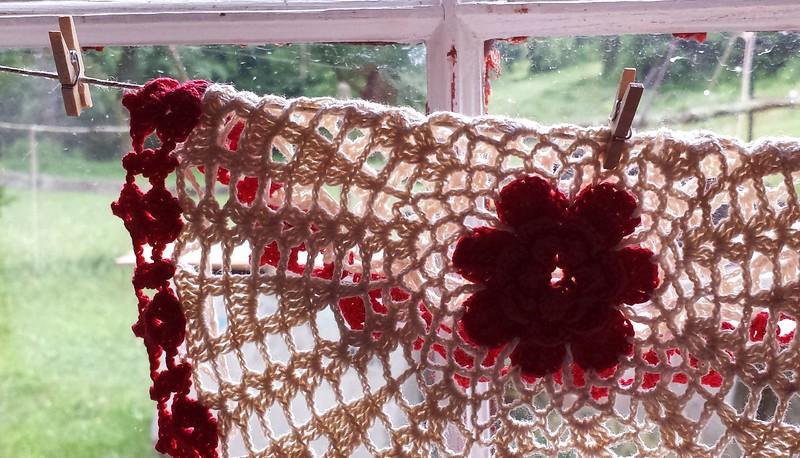 Handmade doily in gift shop - Quiet Valley Farm