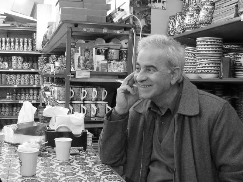ELI  - A SHOP OWNER  / JERUSALEM / PHOTO TAKEN IN FEB. 2008 THE OLD CITY OF JERUSALEM<br /> エリ 店舗経営者 エルサレム旧市街 撮影 FEB. 2008 エルサレム旧市街