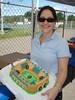 Jess and her stadium cake