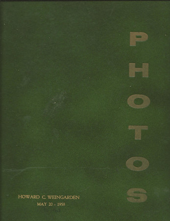 Arthur B. Weingarden-Photo Album 1958-63