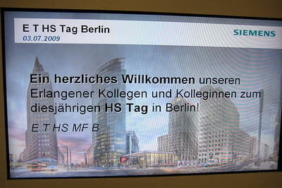 A warm welcome by our colleagues in Berlin.