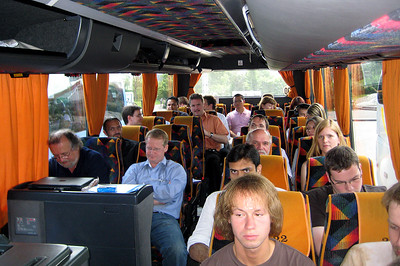 Bus No.1 on its way  from Erlangen to Berlin.