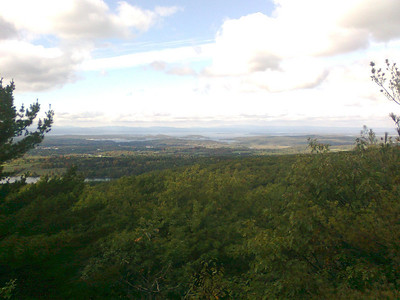 Hike up to Fantasy Hill in Essex, Vermont, with our friends Blanka, Lida, Milan, Pavel, and Karel.   Cell phone shots.