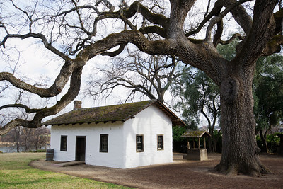 The Ide Adobe, built in 1848 (?) or thereabouts.  It's a State Historic Park now.
