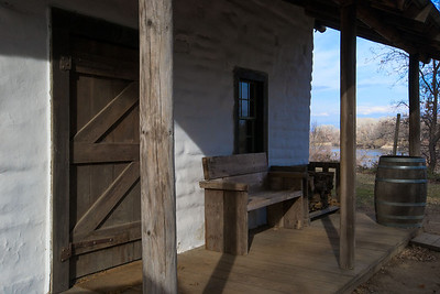 The view from the Ide Adobe porch - Sacramento River in the background.
