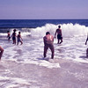 Janet, Ben and Eleanor in the surf at Jones Beach (1966?)