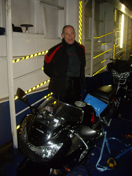 There's no feeling like getting your bike strapped down on the ferry!