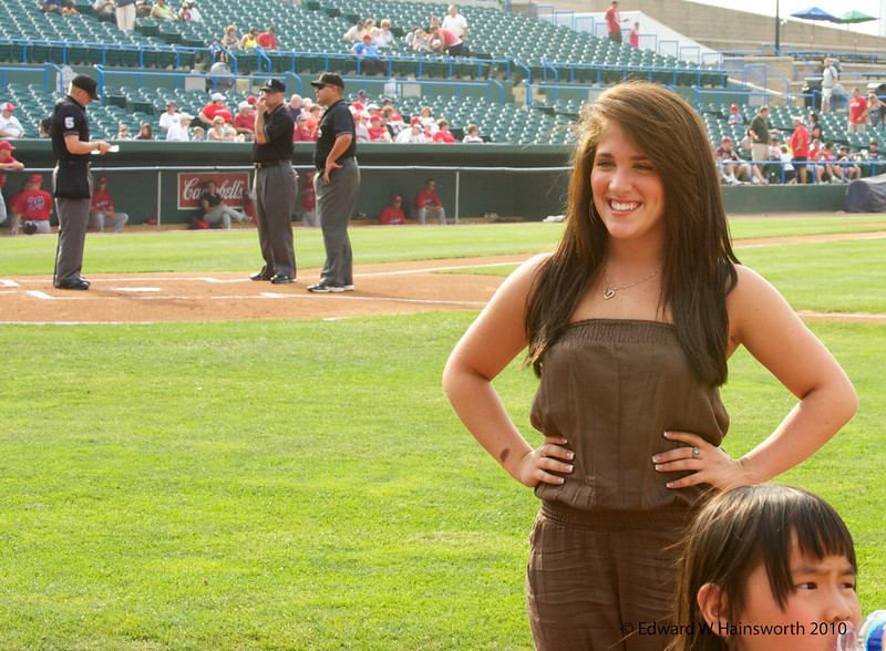 Erica Appel prepares to sing the National Anthem... then on to American Idol