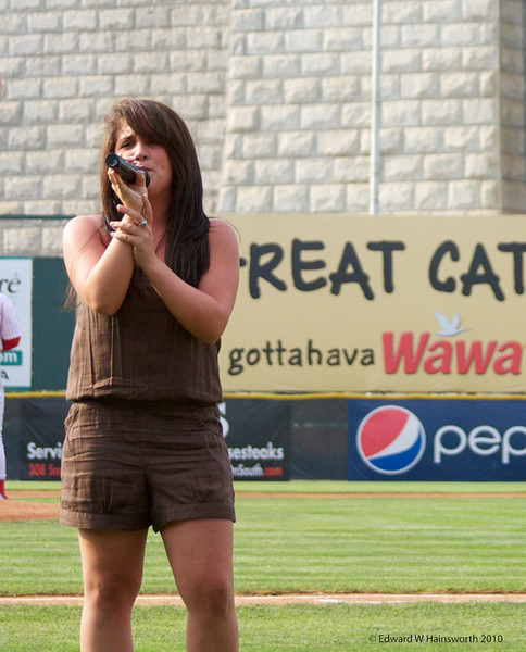Erica Appel sings the National Anthem