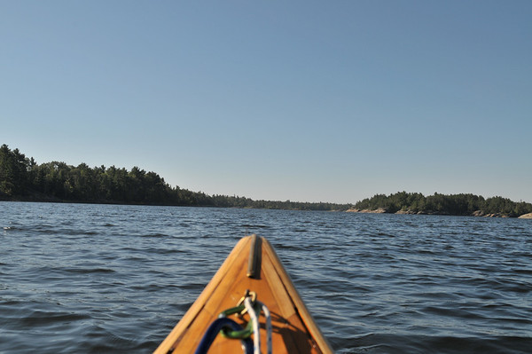 Well, this didn't work, but it is a view looking backwards from the canoe.  Tough picture to take considering I had to turn around in the canoe in the middle of the lake.