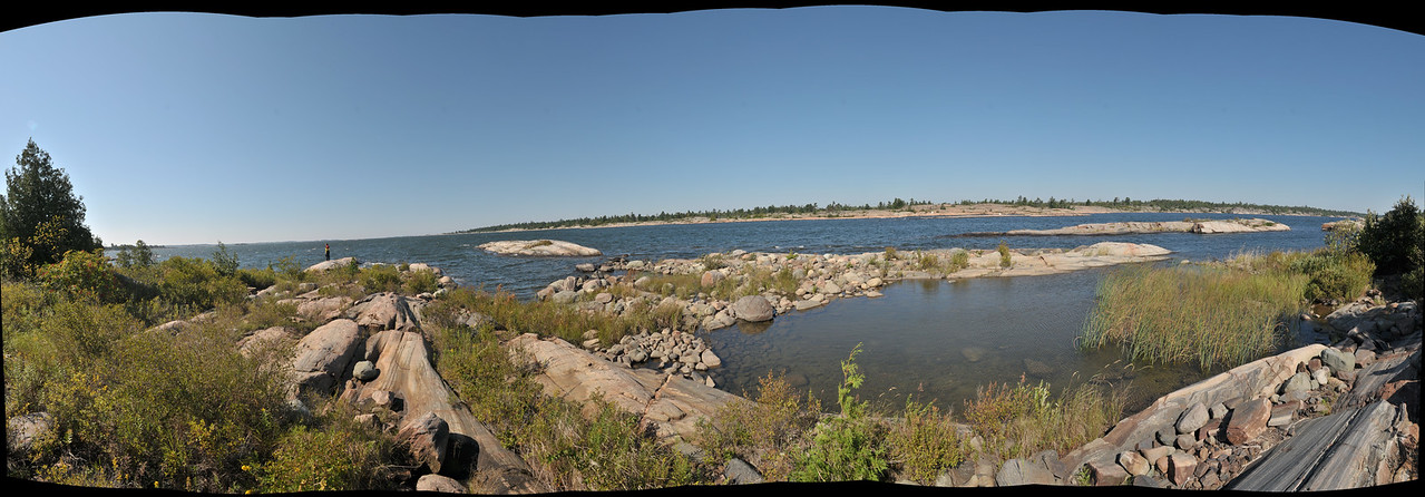 Welcome to George Bay - This panorama is at the end of the Main channel.