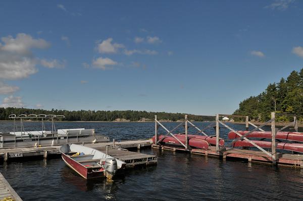 The docks at Hartley Bay Marina
