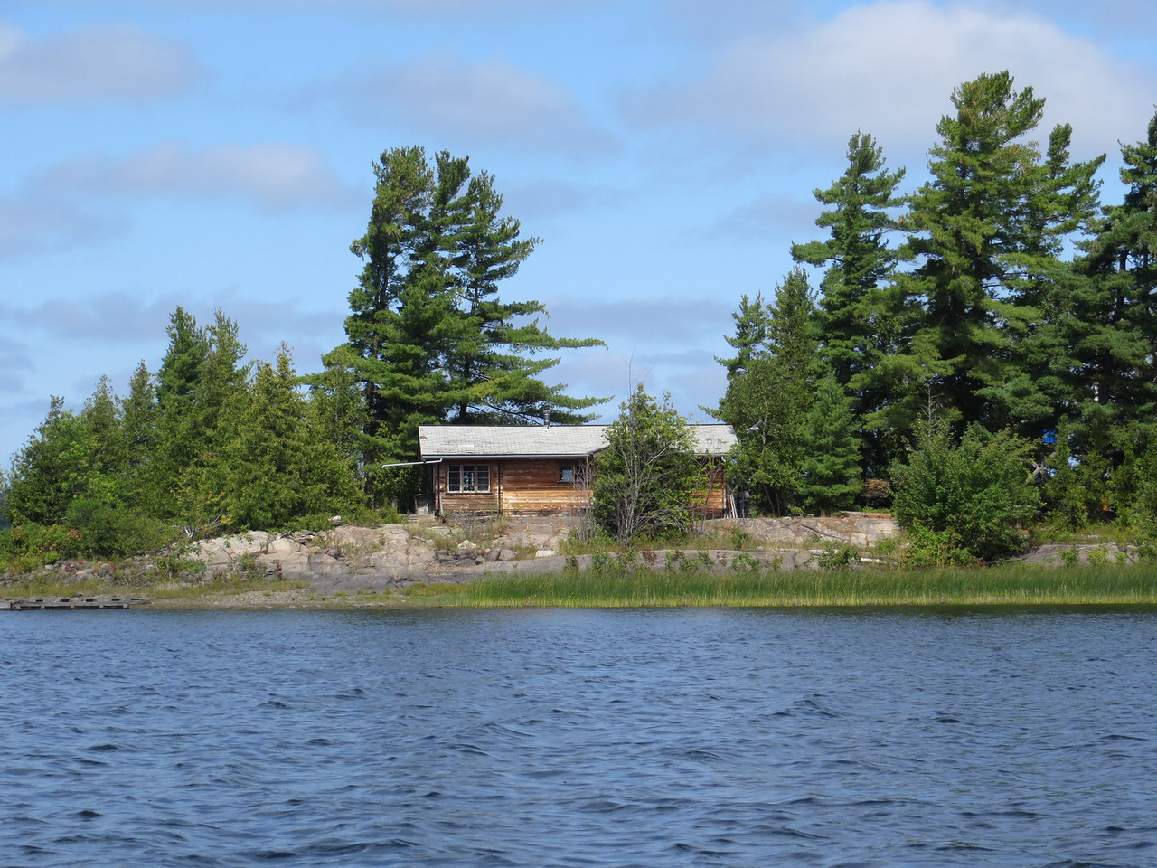 One of the many cottages along the lower French River