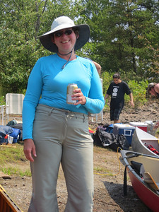 Barb snagged a Beer.  BTW, it was about 34C.