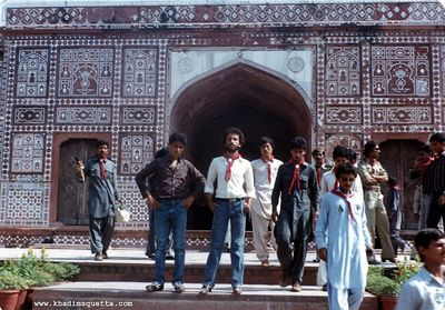 1983: On a visit to Tomb of Mogul Emperor Jahaan Geer in Lahore as a rover scout. 1983. I was really a skinny lad then.