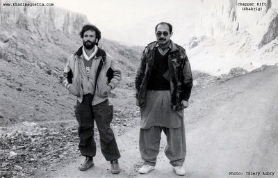 En route to Shahrig with Imran Shah on a visit to a coal mine. The location of the photo is known as Chappar Rift