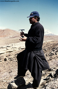 Din Mohammed Kakar while doing reconnaisance geological study of Kutch area - 10s of miles north-east of Quetta.