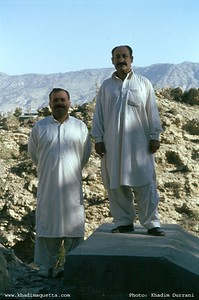 August 2001: morning walk in Ziarat! Din Mohammed Kakar and Ayub Jogezai.