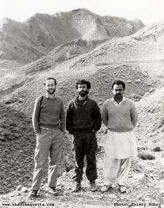 With Dr. David Alderton and Dr. Mehrab Khan in the Naal region of southern Balochistan. February 1990