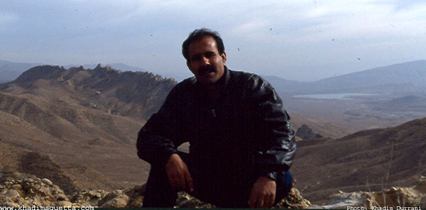 Nasir Karim - the snake hunter! Spin karez lake is visible in the background.