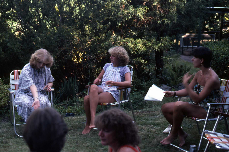 Barb Burns, Marilyn and Karen Anderson at West 4th & Trimble.
