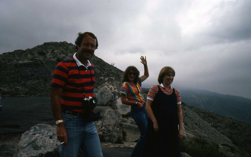 Rick and Mary Smith with pregnant Marilyn on Pacific Coast on our way to Palm Springs - Feb 1983.