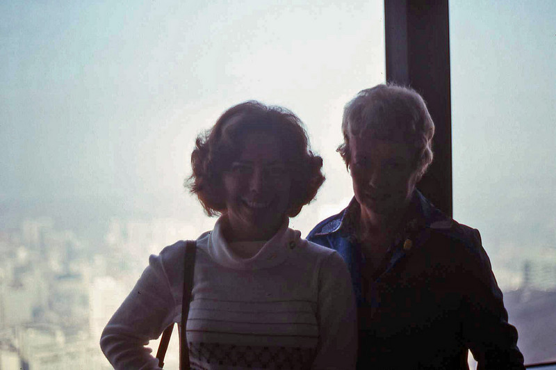 Wayne's sister, Nancye and Mom, Eileen in CN Tower