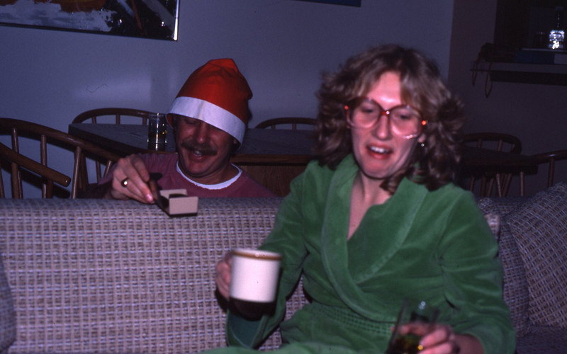 Bruce and Marilyn celebrating Christmas