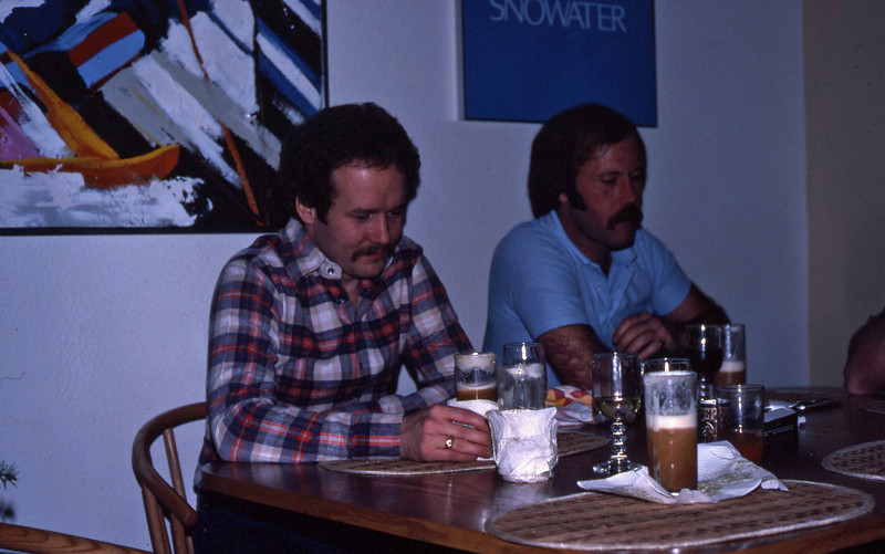 Wayne and Rick Smith with special coffees at Snowater