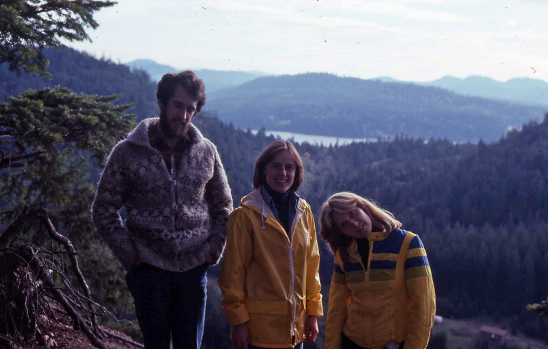 Murray, Ann and Marilyn on Mayne Island