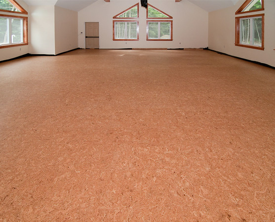 Cork floor in the worship room is all done!