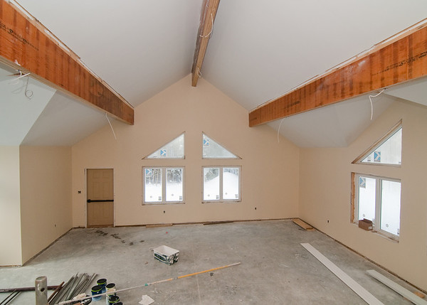 The worship room with finished paint color!