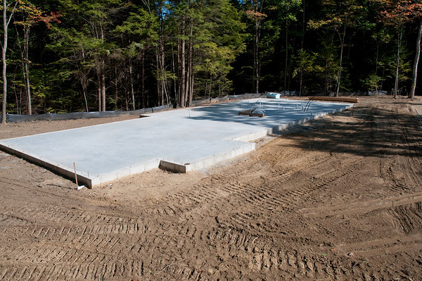 Slab is now poured and ready for framing!