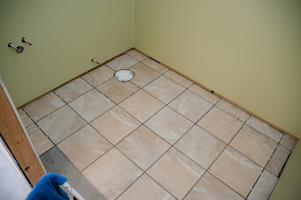 The tile goes in the bathrooms