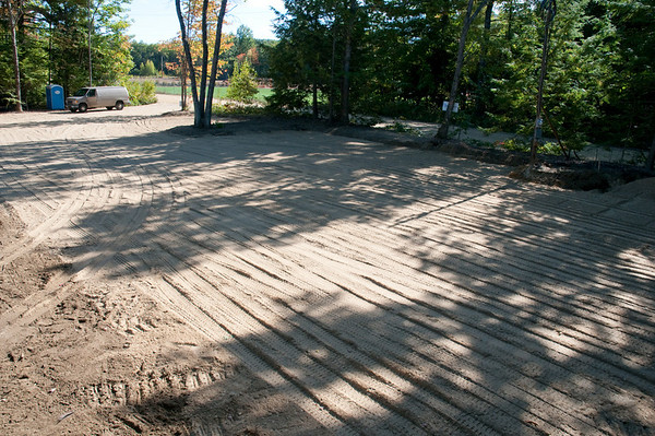 Parking area rough grading is done.