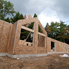 The main meeting room dormer wall is up