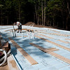 """Nearly done with the radiant tubing, all laid over 2"""" foam insulation."""