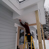Porch ceiling beadboard goes up