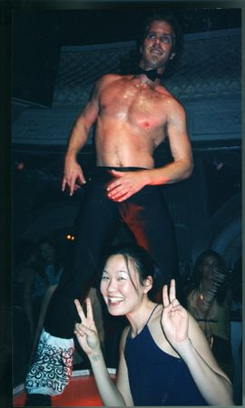 Fobby Leslie with Fake guy @ Ruby Skye