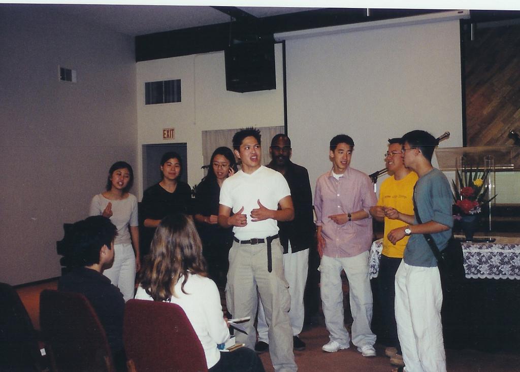 Summer 2002 A Cappella @ Windy's church