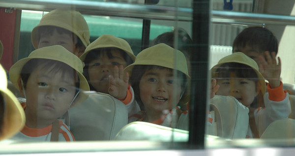 Emily is waving in the school bus (2004)